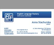 "Miniatura -Wizytówka ""ELF"" English Language Factory"