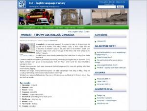 Screen nr 3 www.angielski-elf.pl